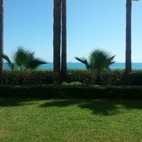 Photo taken at Mersin Hilton Lobby Lounge by Zeynel Abidin A. on 9/14/2013