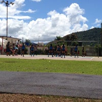 Photo taken at Cancha Volleyball Bairoa by Javier G. on 2/22/2014