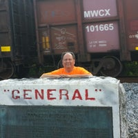"""Photo taken at Locomotive """"General"""" Historical Marker by Danielle C. on 5/26/2014"""