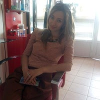 Photo taken at korona kuaför salonu by Hatice İ. on 4/25/2014