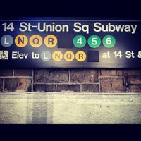Photo taken at MTA Subway - 14th St/Union Square (4/5/6/L/N/Q/R/W) by Lucas C. on 12/6/2012