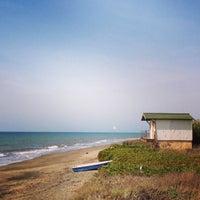 Photo taken at Marina Velca Beach by Davide S. on 9/24/2014
