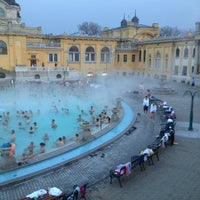 Photo taken at Széchenyi Thermal Bath by Ahmet F. on 3/23/2013