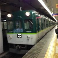 Photo taken at Keihan Temmabashi Station (KH03) by まいたん on 1/2/2013