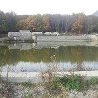 Photo taken at Комсомольская Поляна-озеро by Сашка В. on 10/16/2013