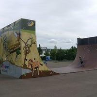 Photo taken at Skatepark Lingner Allee by Joschi K. on 7/16/2017