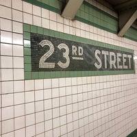 Photo taken at MTA Subway - 23rd St (F/M) by Tash C. on 7/6/2017