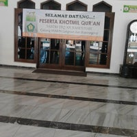 Photo taken at Masjid Agung Darussalam Bojonegoro by aris f. on 12/28/2013