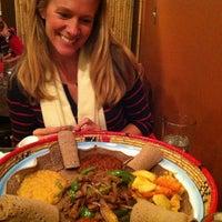 Photo taken at Queen of Sheba Ethiopian Cuisine by Joe P. on 12/16/2012