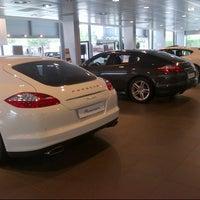 Photo taken at Porsche Italia by Beatrice on 10/12/2012