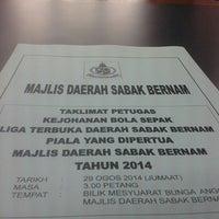 Photo taken at Majlis Daerah Sabak Bernam by Afif I. on 8/29/2014