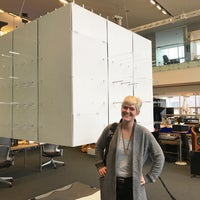 Photo taken at MIT Media Lab — Wiesner Building (Building E15) by Amber C. on 9/24/2017