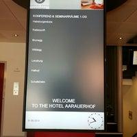 Photo taken at Sorell Hotel Aarauerhof by Apek L. on 5/31/2014