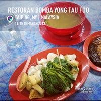 Photo taken at Taiping Bomba Yong Tau Foo by Ajim A. on 3/10/2013