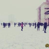Photo taken at Gazi Anadolu Lisesi by Ece K. on 12/12/2013