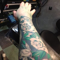 Photo taken at Tattoo Mania by Big Sean on 11/15/2012