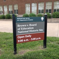 Photo taken at Brown vs. Board of Education National Historic Site by Carl T. on 5/24/2013