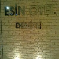 Photo taken at Esin Otel by <-SeRKaNnN-> on 5/20/2014