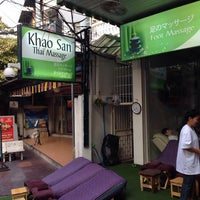 Photo taken at Khao San Thai Massage by Andy L. on 1/1/2014