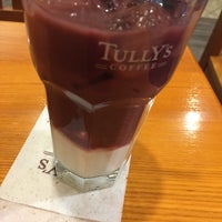 Photo taken at Tully's Coffee by yamako on 4/17/2015