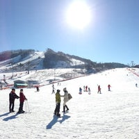 Photo taken at Alpensia Resort Ski Area by Shinjae C. on 1/4/2013