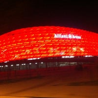 Photo taken at Allianz Arena by Alexander P. on 12/6/2012