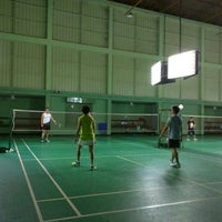 Photo taken at Tobacco Badminton Court by n a tHing Y. on 12/20/2015