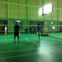 Photo taken at Tobacco Badminton Court by n a tHing Y. on 1/18/2015