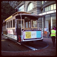 Photo taken at Powell Street Cable Car Turnaround by alexandra c. on 10/16/2012
