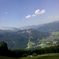 Photo taken at Jennerbahn Mittelstation 1200 m by Elena B. on 7/7/2015