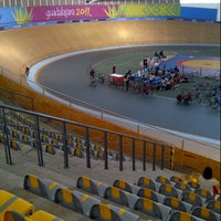 Photo taken at Velódromo Panamericano by Mauricio A. on 10/20/2012