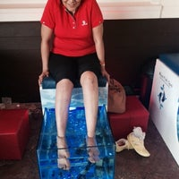 Photo taken at Fish Spa Therapy by Claudette R. on 10/20/2014