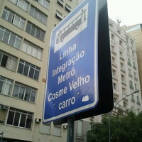 Photo taken at Linha 580 - Largo do Machado / Cosme Velho by Marco C. on 12/19/2012