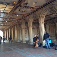Photo taken at Bethesda Fountain by Natalie L. on 11/22/2012