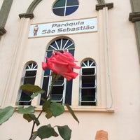 Photo taken at Igreja São Sebastião by FERNANDO S. on 12/25/2013