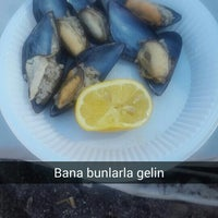 Photo taken at Parıltı Beach by Gaye K. on 7/6/2015