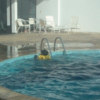 Photo taken at Mont Blanc - Piscina by Zecary C. on 7/14/2013