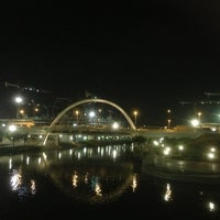 Photo taken at Bridge @ Punggol Walk by Rick on 10/29/2012