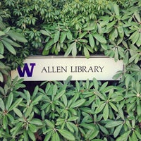 Photo taken at UW: Allen Library by Kate K. on 3/31/2013