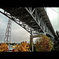Photo taken at Ship Canal Bridge by Kate K. on 10/15/2012
