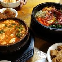 Photo taken at Myung-dong Soft Tofu House Korean Restaurant by Kate K. on 10/27/2012
