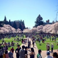 Photo taken at UW Quad by Kate K. on 4/1/2013