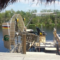 Photo taken at Buffalo Tiger's Airboat Rides by Rogier on 5/5/2014