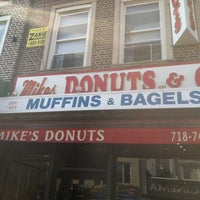 Photo taken at Mike's Donuts by Jonathan V. on 2/14/2013