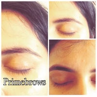 Photo taken at Prime Brows Eyebrow Threading & Waxing Salon Spa by Ruby N. on 4/19/2015