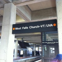 Photo taken at West Falls Church-VT/UVA Metro Station by Vahid O. on 10/23/2012