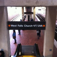 Photo taken at West Falls Church-VT/UVA Metro Station by Vahid O. on 10/31/2012