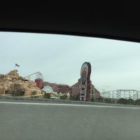 Photo taken at The Desperado Roller Coaster by David C. on 12/5/2014