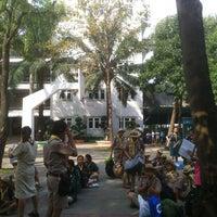 Photo taken at Sarasas Suksawad School by Aun S. on 2/8/2013