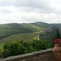 Photo taken at Castello Vicchiomaggio by Necip C. on 6/25/2014
